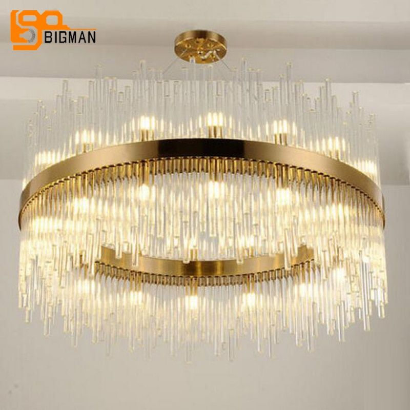 new arrival modern chandelier LED lights AC110V 220V gold dinning room living room hanglamp