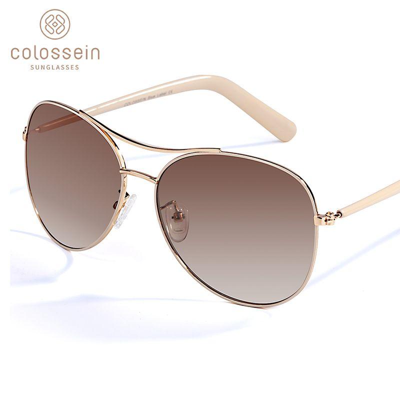 COLOSSEIN lunettes de soleil femmes mode or cadre classique femme unisexe lunettes de soleil pour 2019 lunettes extérieures UV400 gafas de sol
