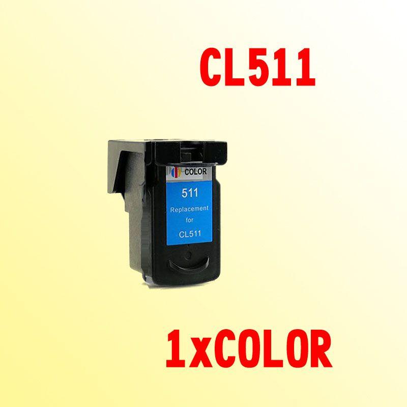 CL511 ink cartridge compatible for CANON CL 511 CL-511 CL511XL PIXMA MP230 240 250 260 270 280 282 480 490 495 MP499
