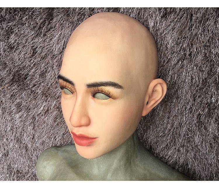 silicone female mask crossdresser realistic silicone transgender mask M4
