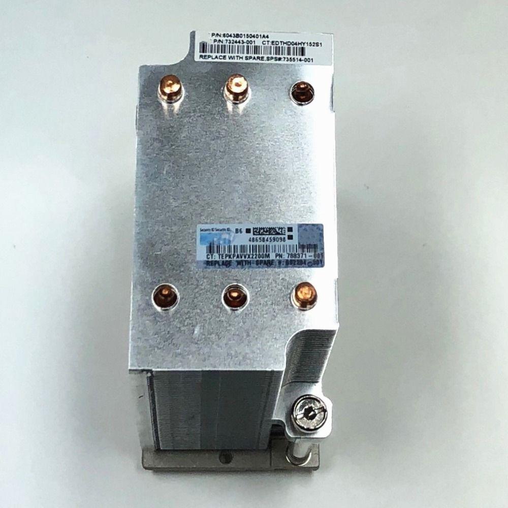 735514-001 732443-001 kühlkörper Für 4U DL580 Gen8 Server DL580 Gen8 Gen9 v3 v4 Kühler kühlkörper für Server CPU Kühlsystem