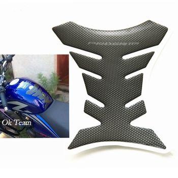 Шт. 1 шт. углерода волокно Танк Pad Tankpad протектор Стикеры для мотоцикла универсальный Fishbone Бесплатная доставка