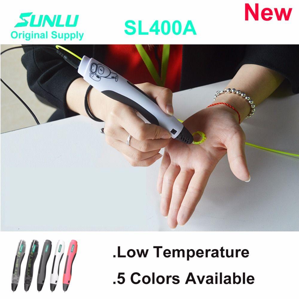 SL400A low temerature 3D pen Children doodle toy pen 3D pen use low temperatuere filament safe for children use 3d painting pen