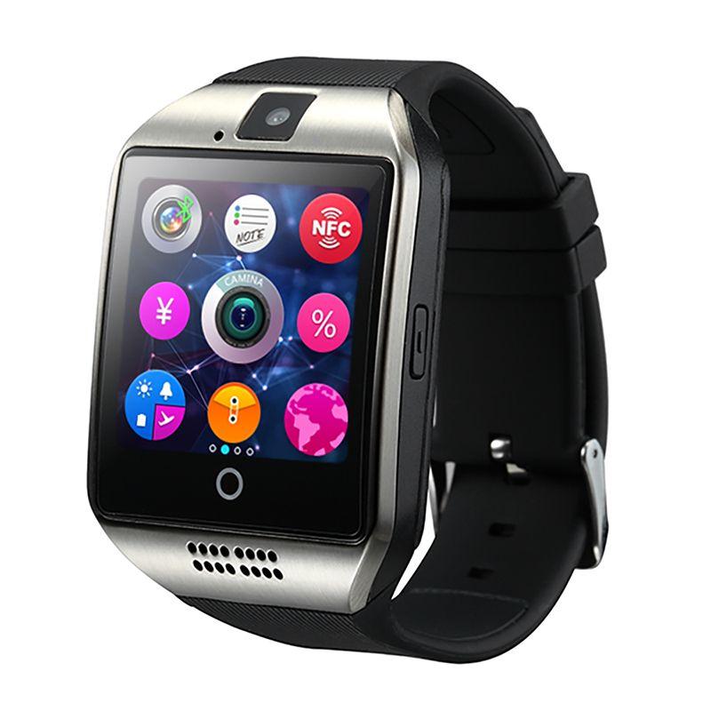 SmartWatch nouveau Q18 passomètre montre intelligente avec écran tactile caméra TF carte Bluetooth Smartwatch pour Android IOS téléphone hommes montre