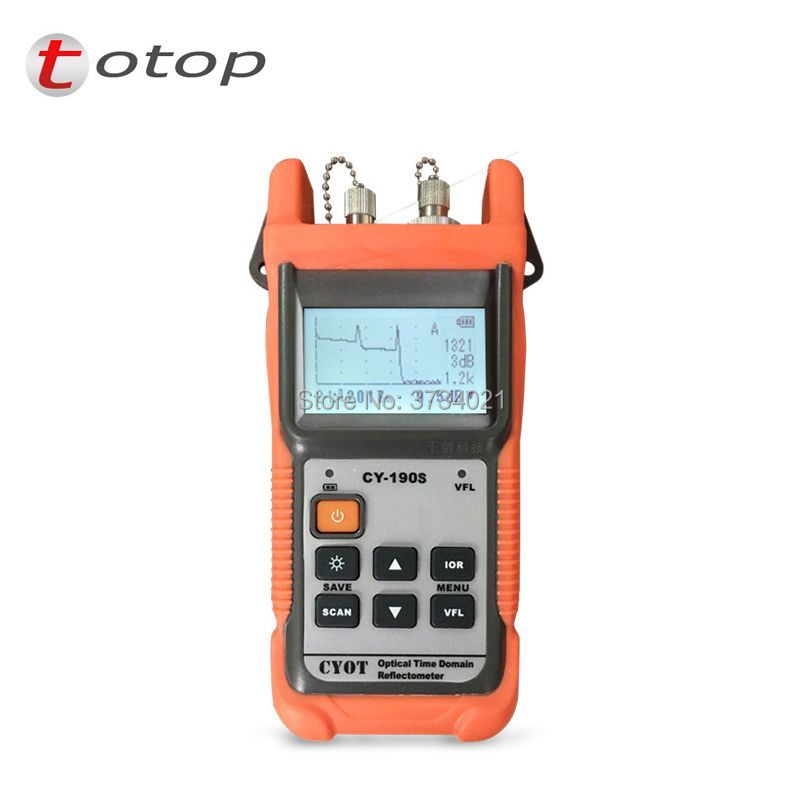 FREE SHIPPING Optical Fiber Handheld OTDR CY-190S Optical Reflectometer CY190S VFL Fiber find fault tester with FC/PC CY 190S