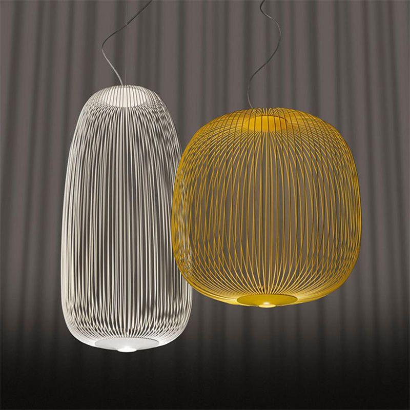 Post Moderne Foscarini Speichen Anhänger Lichter Industrielle Vogel Käfig Leuchte Esszimmer Wohnzimmer Wohnkultur Led Hängen Lampe