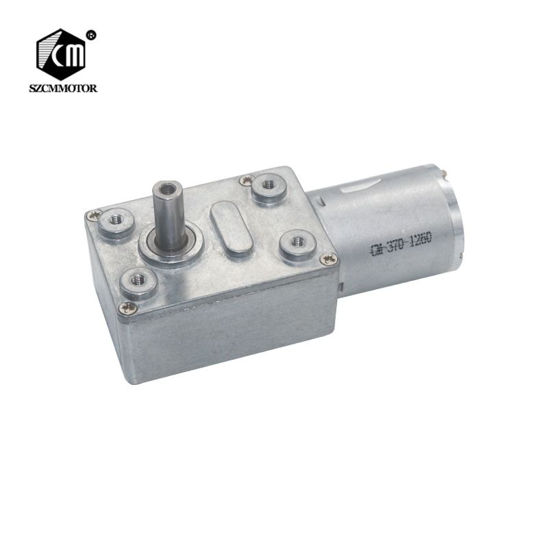 DC6V/12V24V 2RPM to 150 RPM High Torque Speed Reduce Turbine Worm Gear Box Motors Reversible Low Speed Worm Gear Motor JGY370