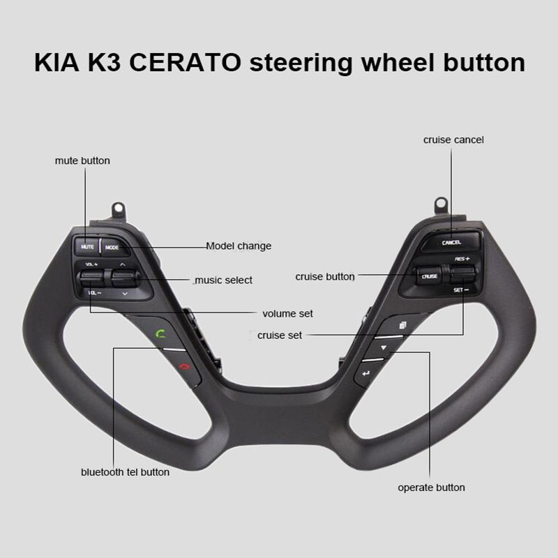 Steering wheel Button for KIA CERATO K3 2016 2017 with audio volume music control cruise bluetooth telephone tel sound Switch