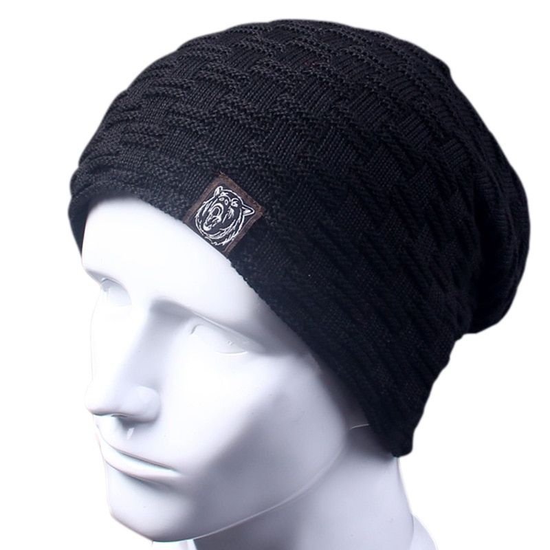 Casual Brand Men Winter Hat Beanie Hats Fur Warm Baggy Knitted Skullies Bonnet Ski Sports Adult Cap New Arrival Beanies