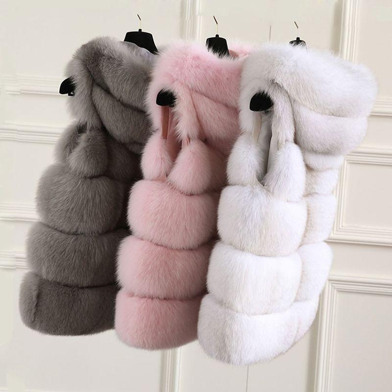 TOPFUR 2018 New Real Fox Fur Vest Fluffy Women Natural Fox Fur Coat With Hood Luxury Winter Fur Jacket Solid Real Fur Luxurious