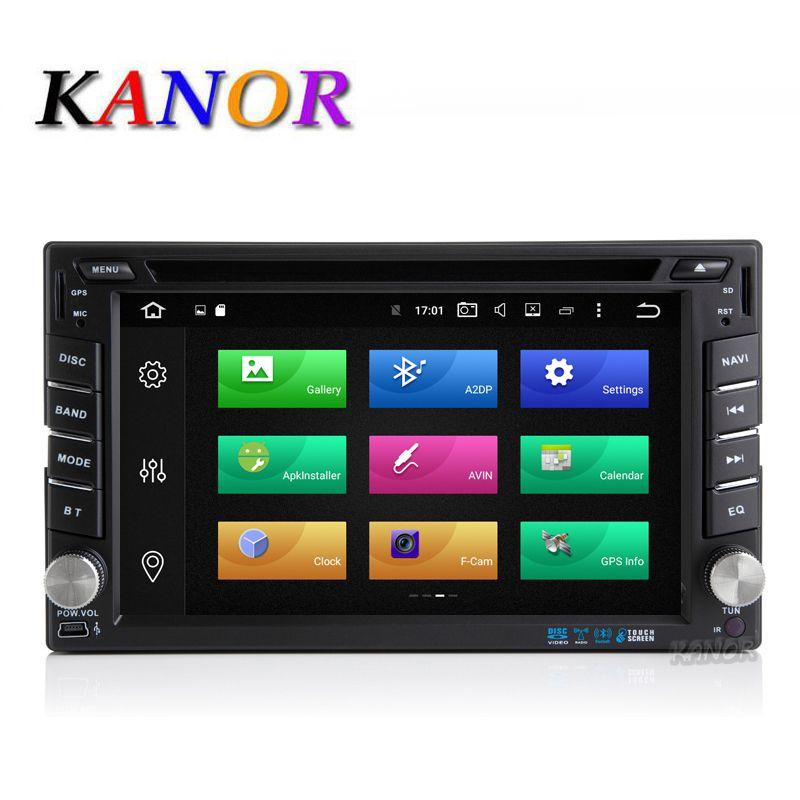 KANOR Android 8.0 32g Octa Core 4g 2 Din Universal Auto-Radio-Player Mit GPS-Navigation Bluetooth Multimedia WIFI USB SD Karte