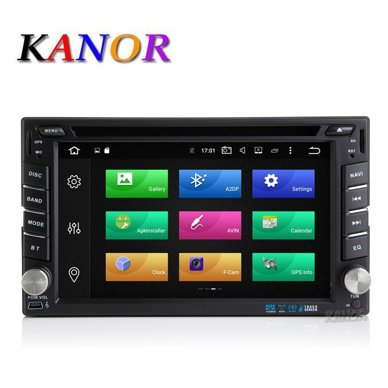 KANOR Android 8.0 32g Octa Core 4g 2 Din Universal Car Radio Player With GPS Navigation Bluetooth Multimedia WIFI USB SD Map