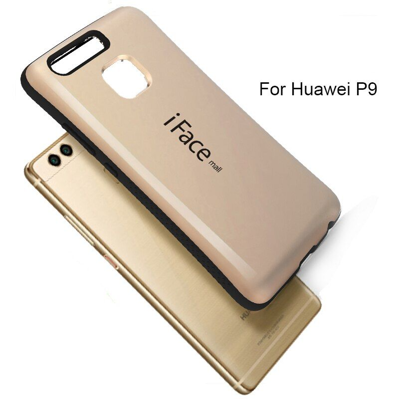 phone case TPU+PC Hard Case  Cover For HUAWEI P9 Silicone Candy Color Korea Style Shock back Shell For HUAWEI P9 P8 P7 Cover