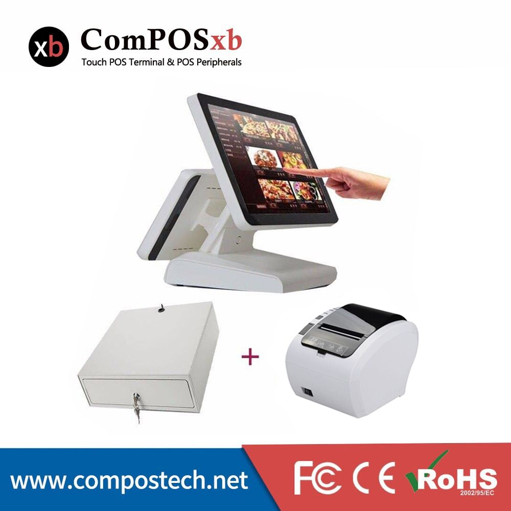 pos machine point of sale system 15 touch touch screen monitor cash register all in one pc