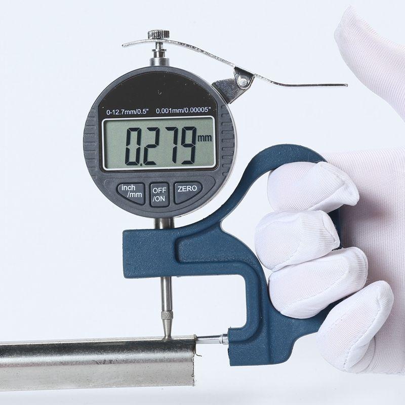 Tube numérique Jauge D'épaisseur 0.001mm LCD Électronique Tube Micromètre D'épaisseur Jauge Tuyau Cadran Indicateur Largeur Mesure Outils 0-10mm