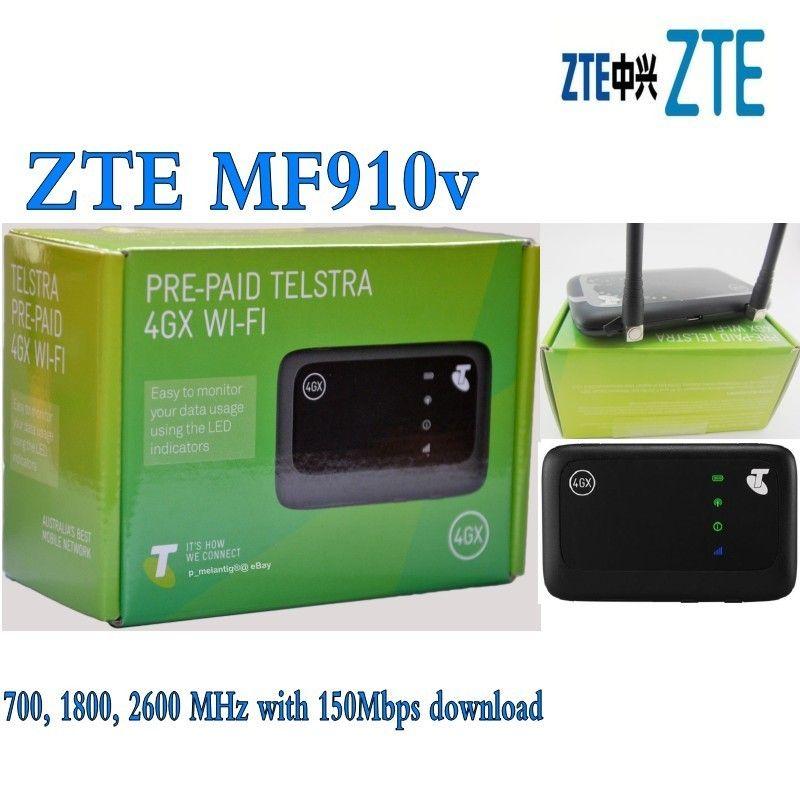 ZTE MF910V 4G LTE Mobilen WiFi Drahtlose Tasche Hotspot Router Modem plus 2 stücke antenne