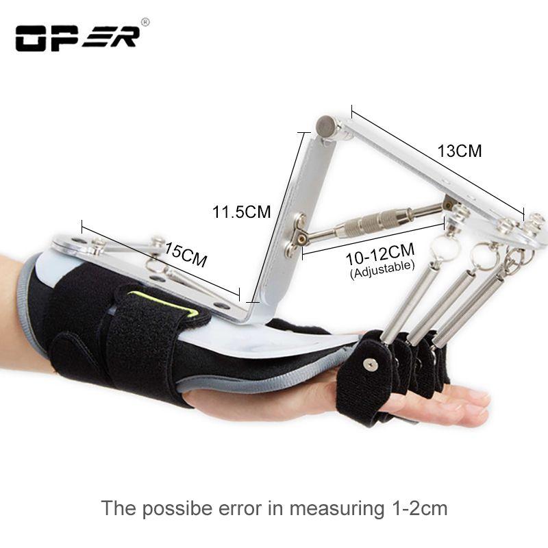 OPER Adjustable Finger Splint Protection Orthotics Exerciser Stroke Hemiplegia Rehabilitation Cerebral Infarction Support Brace