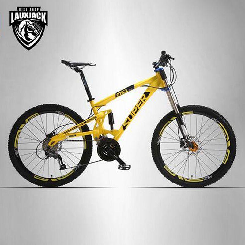 SUPER mountainbike doppelseitige aluminiumrahmen 24/27 speed hydraulische/mechanische scheibenbremsen 26