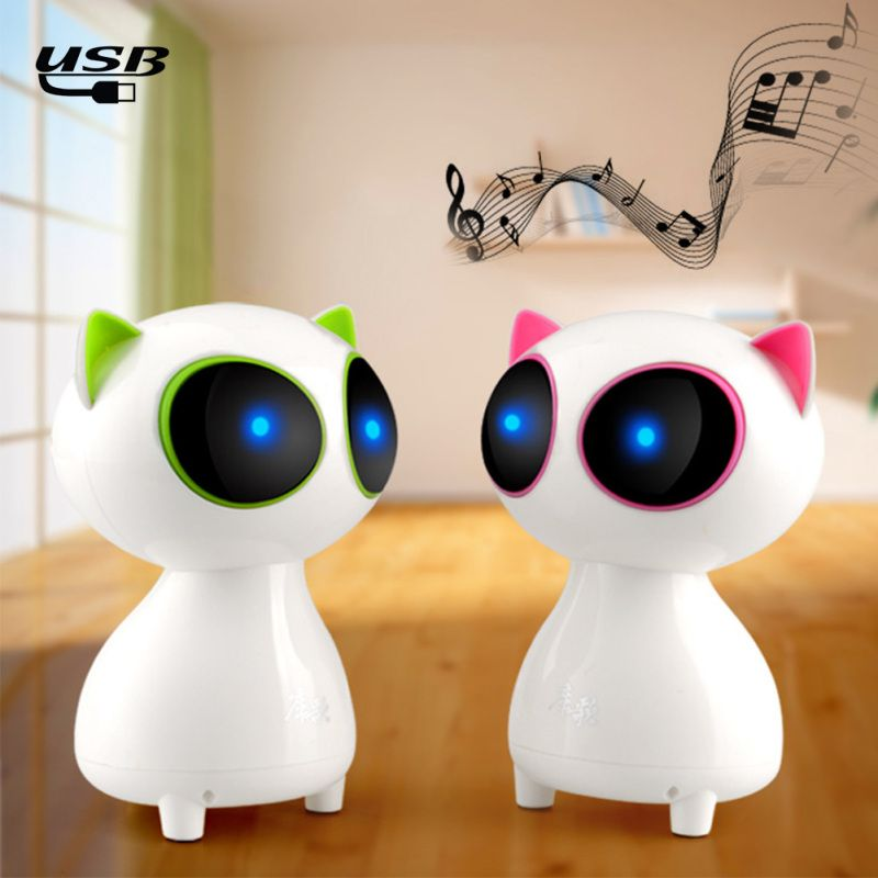 Cute Cat Music Stereo Sound Speaker Portable Loudspeakers Office DecorationFor Computer XIiaomi Huanwei Mobile Phone