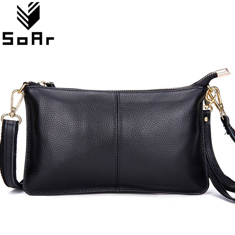 SoAr Fashion cow leather women messenger bags phone <font><b>clutch</b></font> bag high quality genuine leather bag small ladies shoulder bag Flap 1