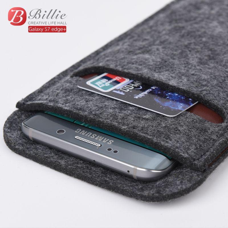 Universal Haute Qualité 5.7 pouce Portefeuille Cas Feutre De Laine Smartphone Poche manches Sac Cas Pour samsung galaxy s6 bord Plus Téléphone Sac