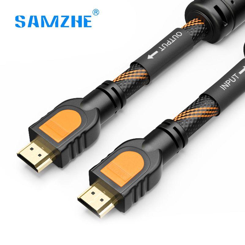 SAMZHE tresse HDMI câble HDMI vers HDMI 2.0 4 K * 2 K Double anneau magnétique blindé pour PS4 xbox projecteur LCD Apple TV 1 m 2 m 3 m 5 m 8 m