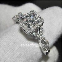 Victoria Wieck joyería de moda AAA cubic zirconia GEM 925 compromiso anillo de boda SZ 5-11 envío libre regalo