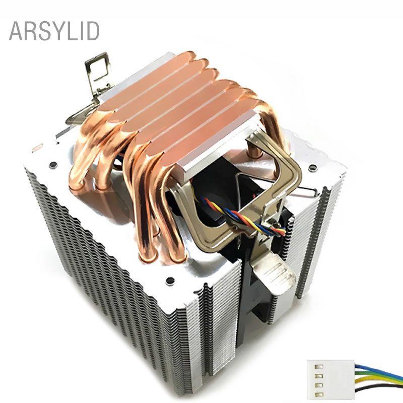 Refroidisseur de processeur 4PIN de haute qualité 115X1366 2011,6 ventilateur double tour de refroidissement 9 cm, support Intel AMD