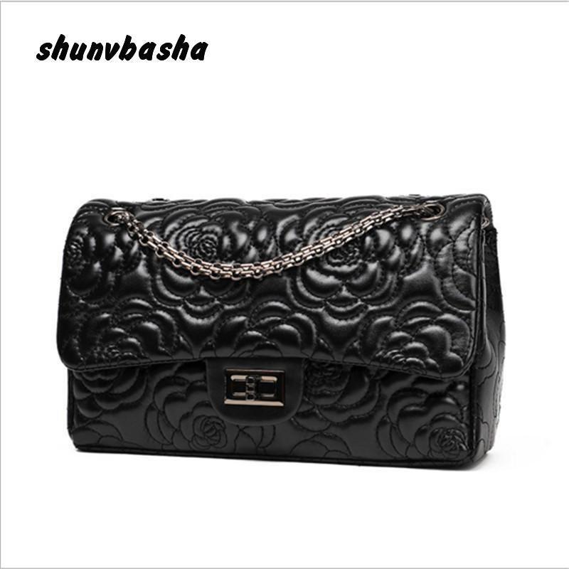 Модные дизайнерские Brand сумки высокого качества Ladies сумка ретро цепи камелии женщины сумка бесплатная доставка