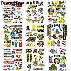 Newbee motocicleta etiqueta el doctor Rossi 46 VR46 motocross reflective Decal para Yamaha Kawasaki Honda BMW Vespa equipaje