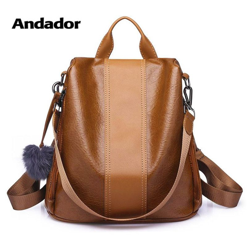 New fashion lady bag anti-theft women backpack 2019 hight quality vintage backpacks female large capacity women's shoulder bags