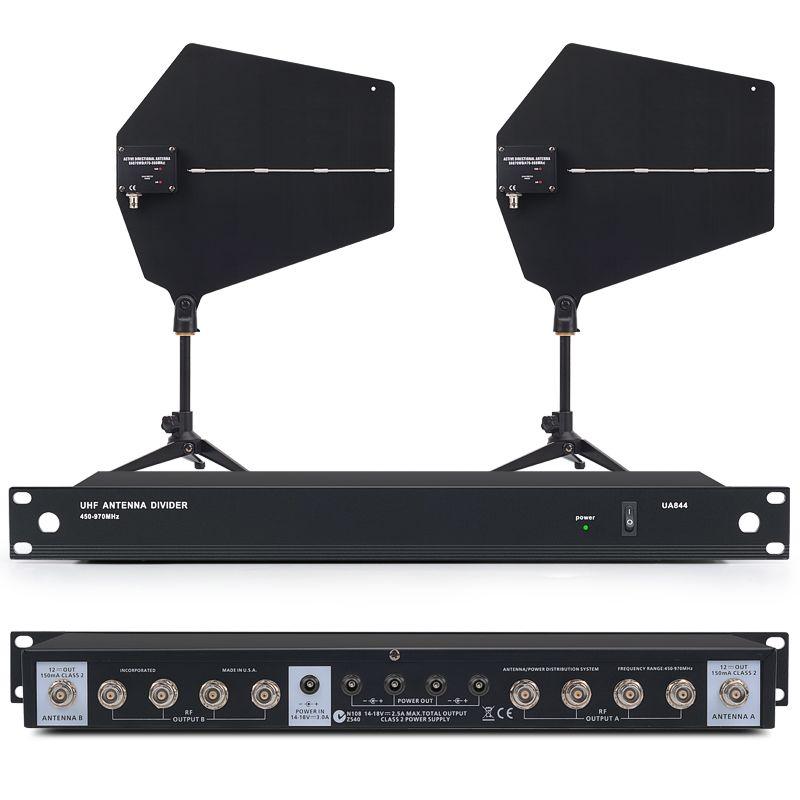 400 meter Aktive richt antenne wireless system 470-900 mhz UHF Antenne Distributor Systeme UA844 für Drahtlose Mikrofon