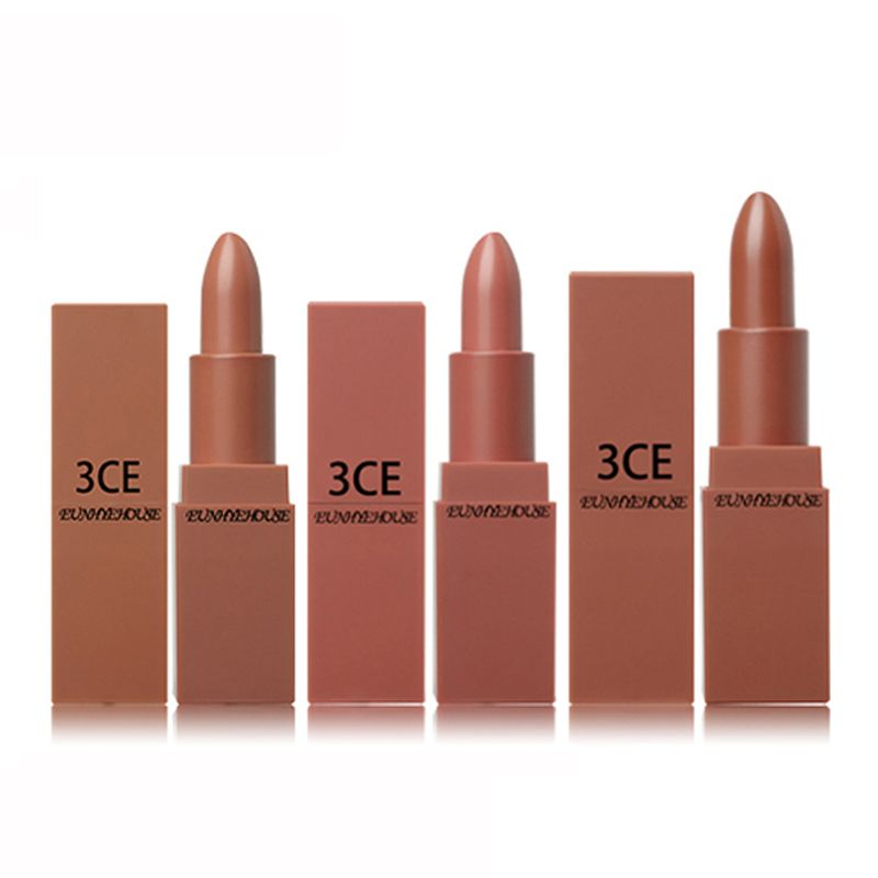 3CE EUNHYE HOUSE Lips Makeup 5 Colors in 1 Set Matte Lipstick Waterproof Lips Cosmetics easy to carry matte lipsticks