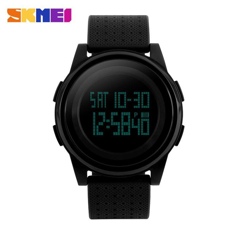 New SKMEI Sport Watch Luxury Brand LED Electronic Digital Watch 5ATM Waterproof Outdoor Sport Watches For Women Men Wrist Watch