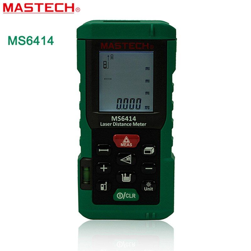 MASTECH MS6414 Laser Rangefinder 40m 131ft Laser Distance Meter Measurer Laser Range Finder Medidor Measure Area/Volume Tool