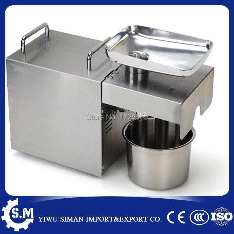 Stainless steel intelligent cold and hot oil press presser machine family automatic peanut oil press presser machine