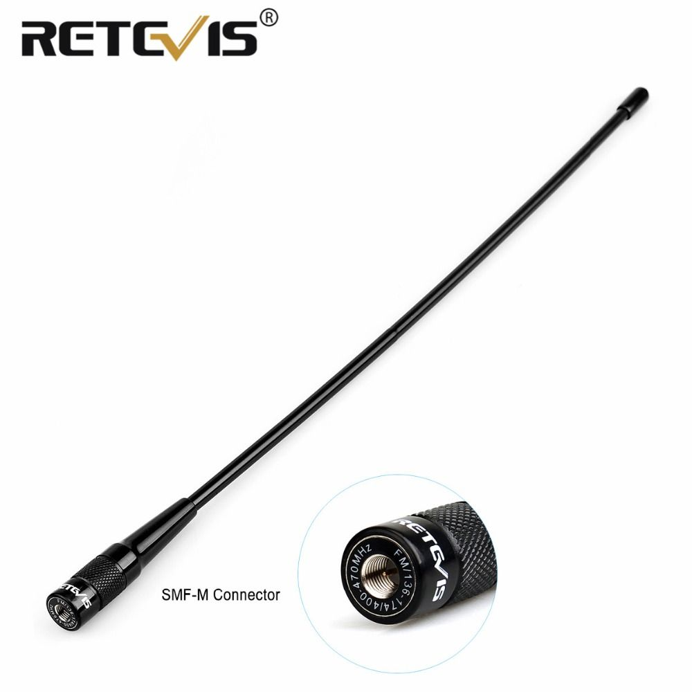 Retevis RHD-771 SMA-M Homme Antenne 37.5 cm 144/430 Mhz VHF UHF Hf antenne Pour Retevis RT1 RT2 RT3 RT8 RT81 Pour TYT MD-380/UV8000D