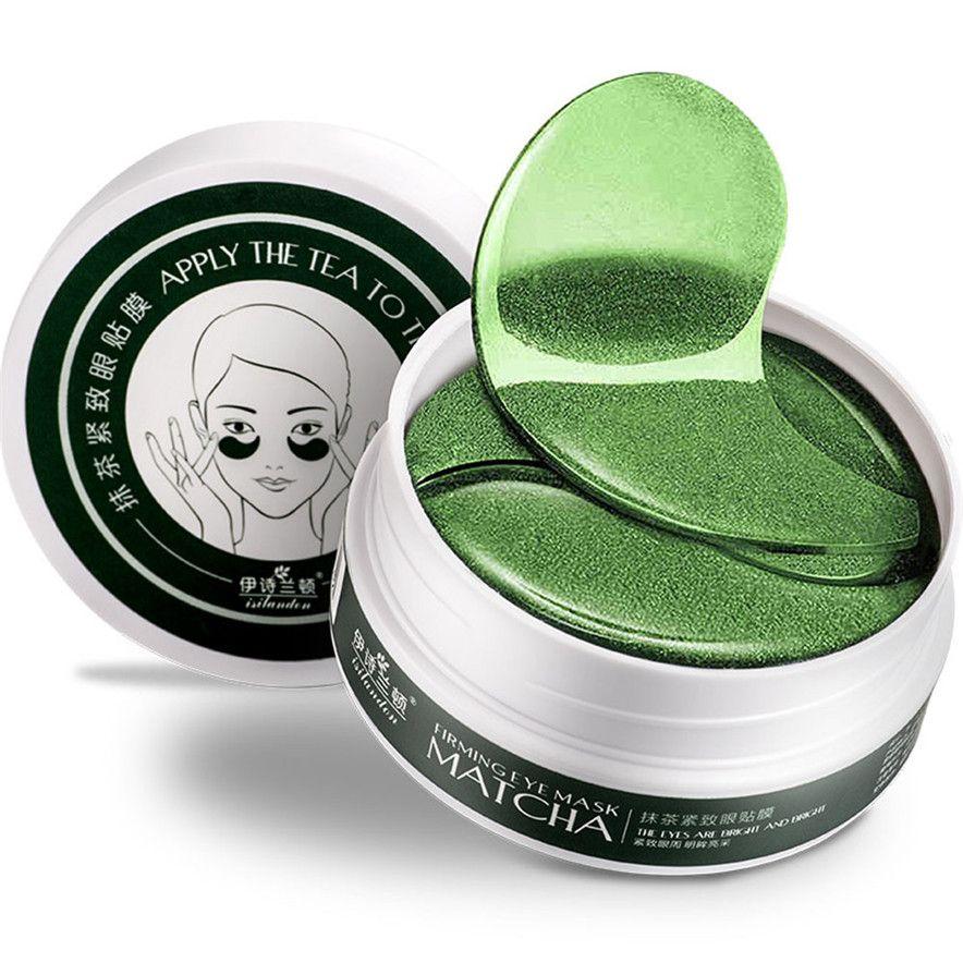 OutTop 1 компл. 60 шт. Новый Зелёный чай Косметическая пудра гель коллагеновая маска для глаз Маски для век Простыни Лидер продаж #30