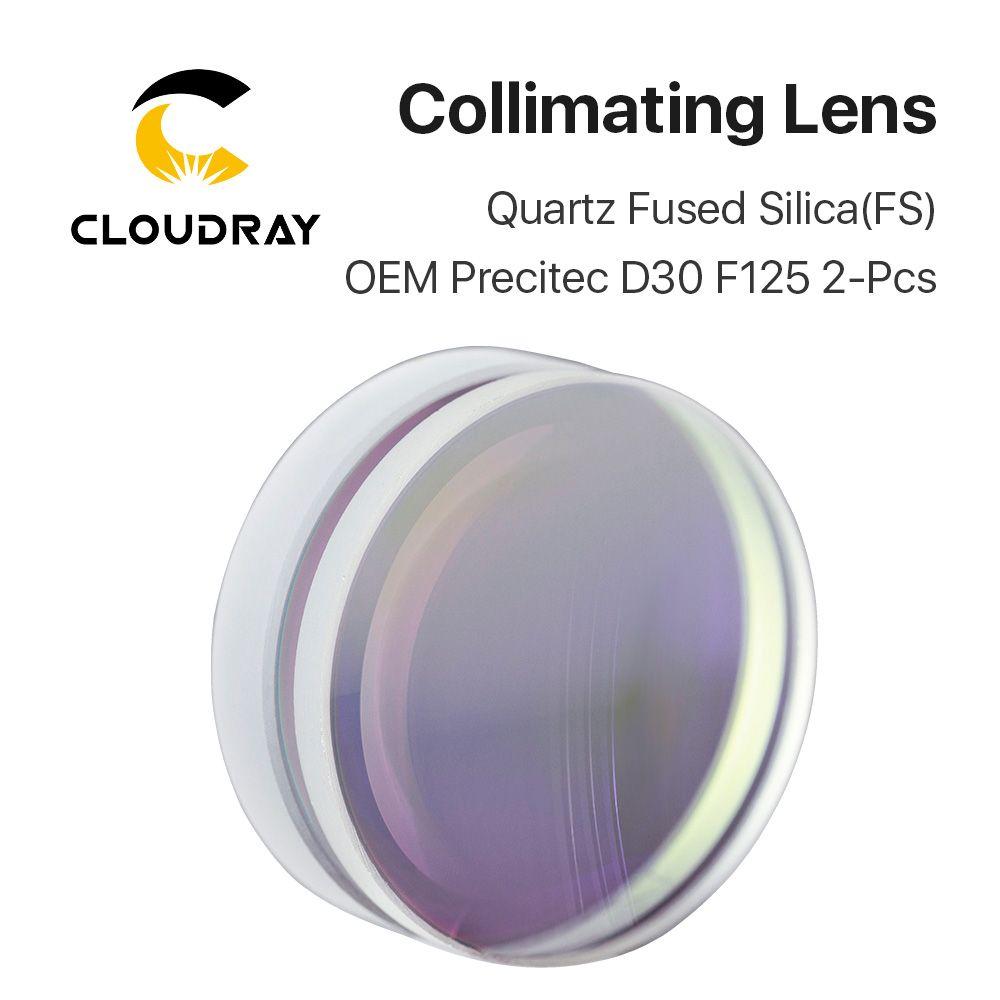 Sphärische Fokussierung Objektiv D28 D30 D37 F75 F100 F125 2 stücke Precitec OEM Quarz Quarzglas für Hohe Energie Faser laser 1064nm