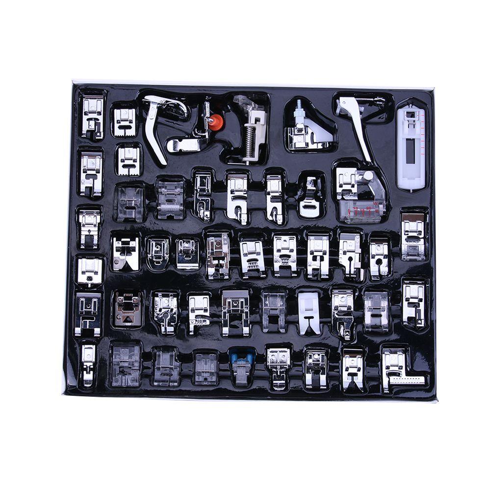 48Pcs For Brother Singer Janom <font><b>Multifunction</b></font> Domestic Sewing Machine Braiding Blind Stitch Darning Presser Foot Feet Kit Set