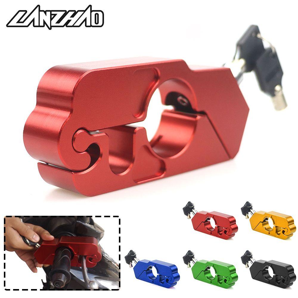 Motorcycle Handle Grip Lock CNC Aluminum Brake Lever Theft Protection Locks Universal for Kawasaki Z900 KTM Duke 125 200 390 250