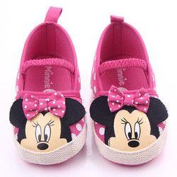 Brandwen Primeros Caminante 2017 Más Nuevo Bebé Recién Nacido Girls Princesa de Dibujos Animados Minnie Mouse Zapatos Infantiles Del Niño Del Resorte Ocasional