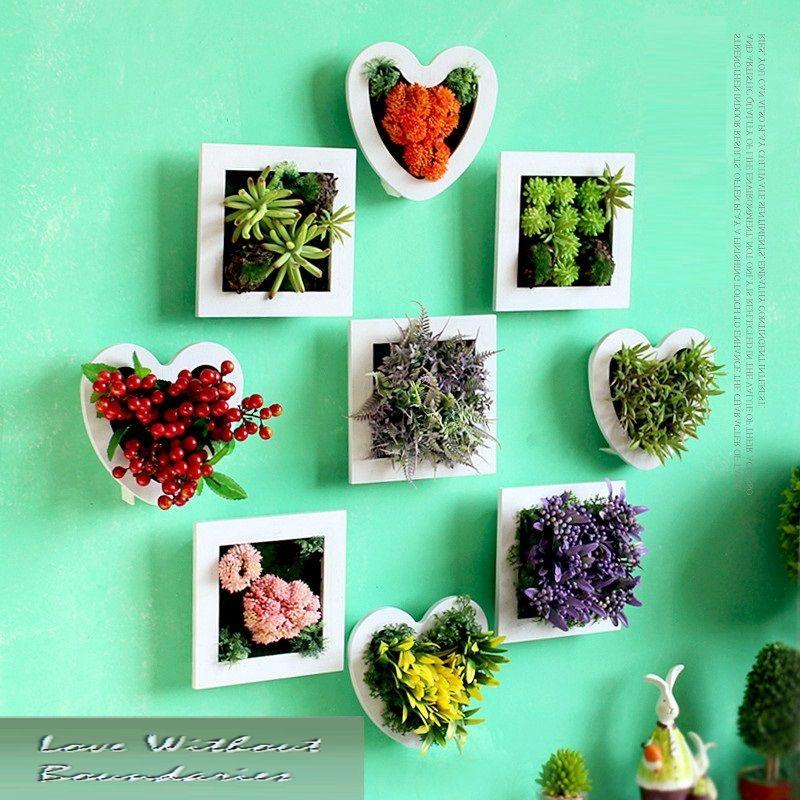 Simulation de fleurs de plantes décoration stéréo décorations murales salle à manger canapé toile de fond peintures murales créatives