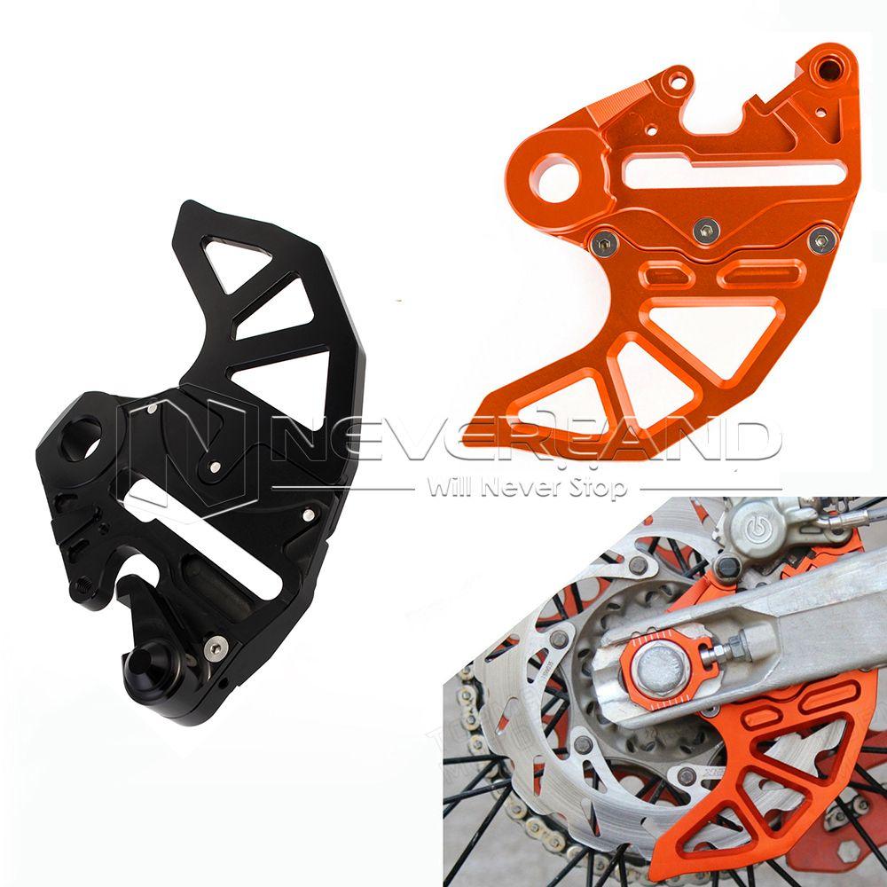 Orange/black Aluminum Motorcycle CNC Billet Rear Brake Disc Guard Fits for KTM 125-530 SX/SX-F 2004-2012 Free Shipping D35