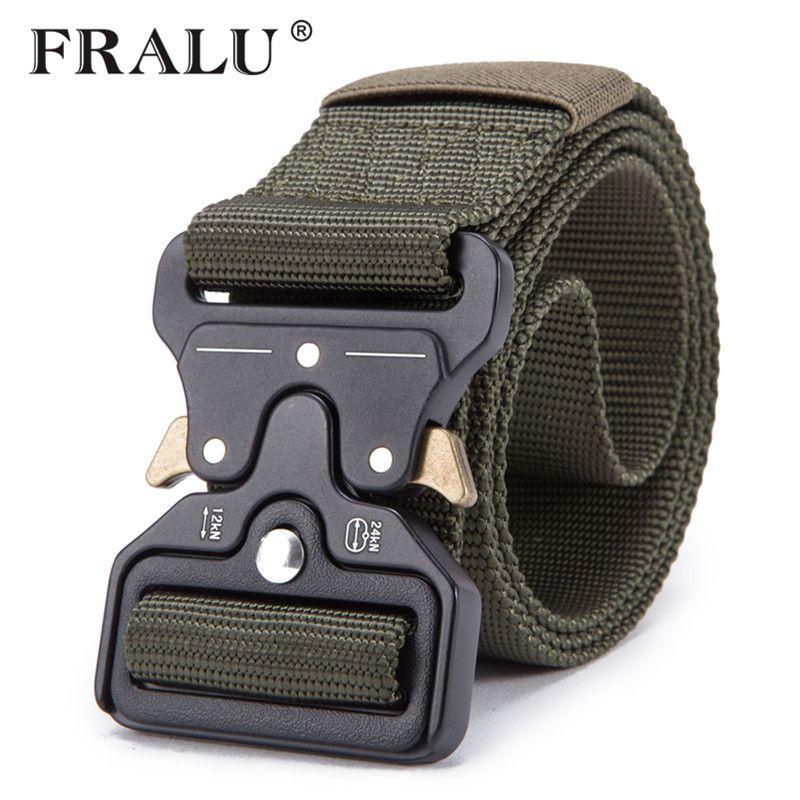 FRALU 2018 Grosse vente ceinture militaire tactique pour hommes ceinture en nylon militaire ceinture multifonctionnelle d'entraînement en plein air ceintures sangle haute qualité