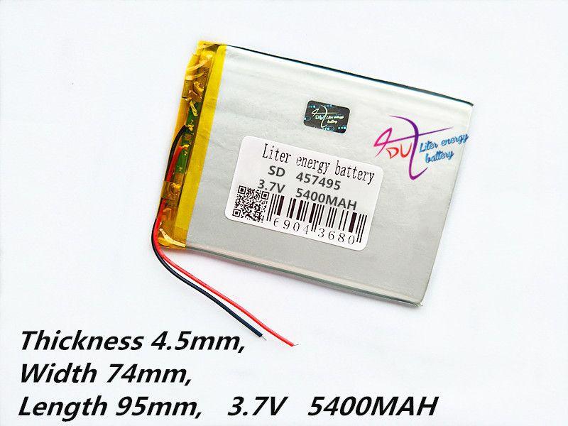 Tablet pc 457495 3.7 V, 5400 mAH (polymère au lithium ion batterie) Li-ion batterie pour tablet pc 7 pouce 8 pouce 9 pouces [457595]