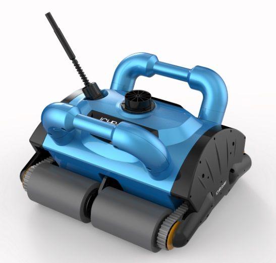 Robotic pool reiniger ith 15 mt kabel, schwimmen pool roboter staubsauger, pool reinigung ausrüstung mit caddy warenkorb und CE ROHS SGS