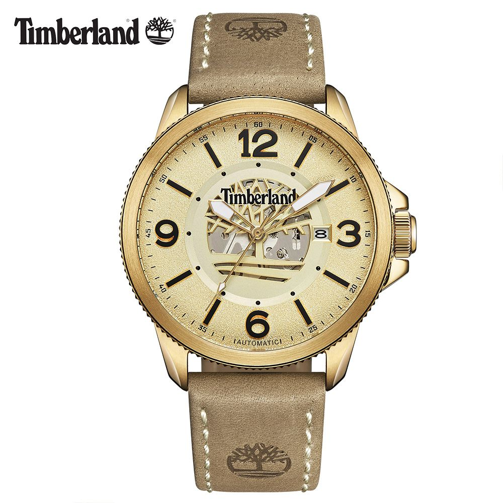 Timberland Original Mens Watches Mechanical Gold Brown Leather Buckle 100M Waterproof Outdoor 2018 Luxury Brand Watches T15421