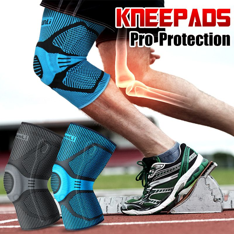 KUNLI Kneepad sports safety Knee Pads Breathable warmth Training Elastic Knee basketball Run Support knee protector 1pcs