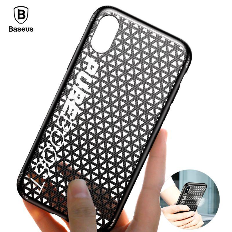 Baseus Atem Telefon Fall Für iPhone X 10 Luxus Ultra Dünne PC & TPU Wärmeableitung Abdeckung Fall Für iPhoneX coque Funda Capinhas
